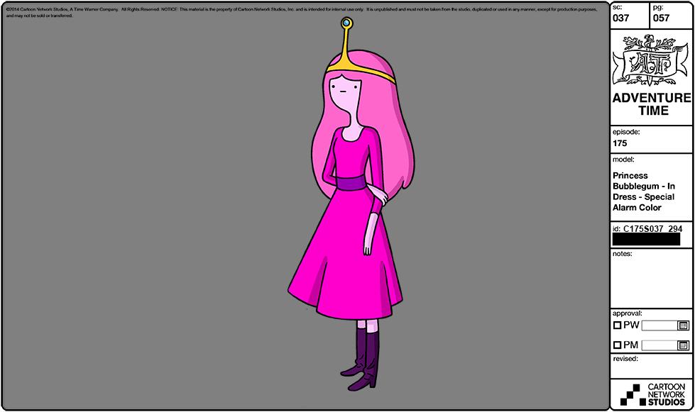 Adventure Time Character Design Sheets : Image modelsheet princessbubblegum indress