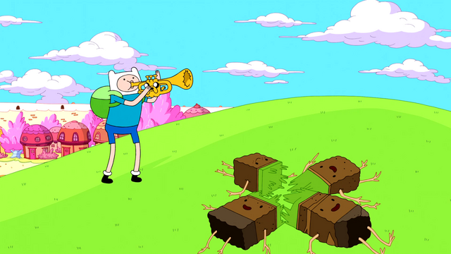 File:S5e19 Finn and Jake cheering up Grass People.png