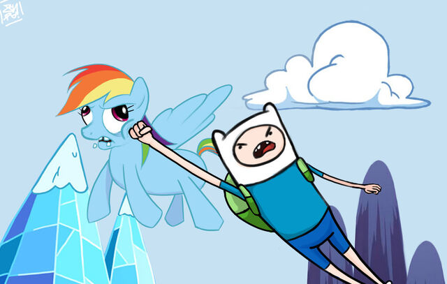 File:Finn vs rainbow dash.jpg