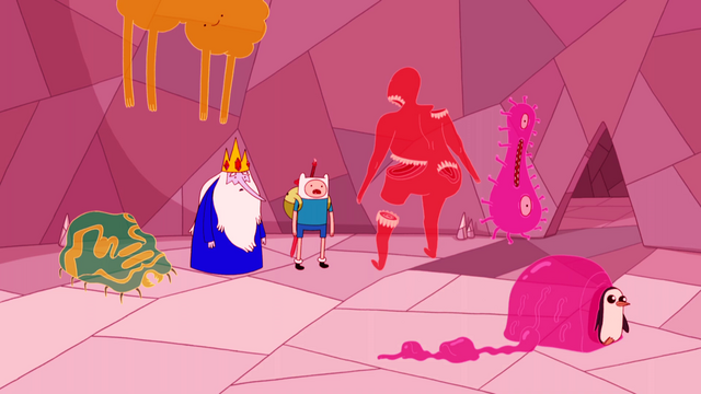 File:S4e11 Finn and Ice King with spirits.png
