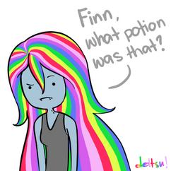 Rainbow hair potion by dettsu-d4ol09r