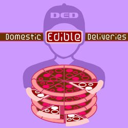 Megacorp logo Domestic Edible Deliveries