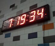 Pace clock at TL YMCA