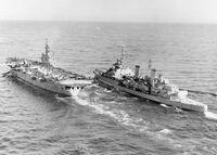 HMS Belfast and HMS Ocean