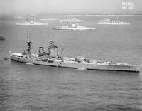 HMS Nelson off Spithead for the Fleet Review