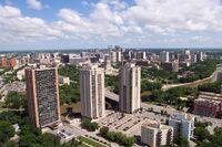 Winnipeg skyline from 55 Nassau