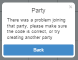 Problem with Parties