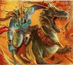 Saurus Knights Seraphon Illustration