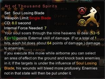 (Soul Losing Blade) Art of Thousand Spirits (Description)
