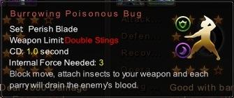 (Perish Blade) Burrowing Poisonous Bug (Description)