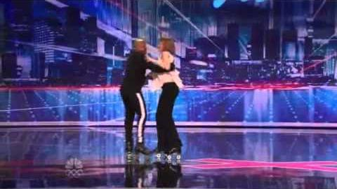 Polly and James, the Roller Skating Dancers - America's Got Talent 2012 New York Auditions