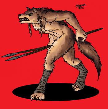 Demon werewolf warrior