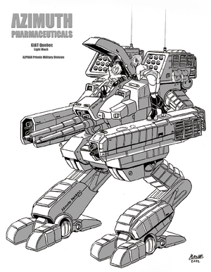 Chizzil - GIAT Quebec Mech Greyscale COMMISSION