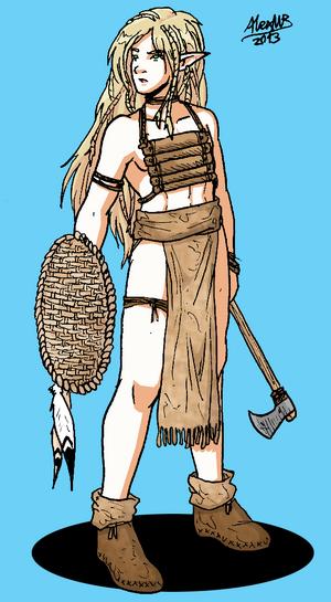 Wild elf warrior by shabazik-d5v1n8j