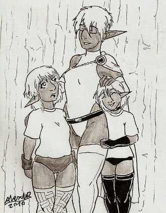 0021 the captain and her kids by shabazik-d30f0bb