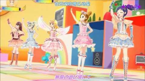 【HD】Aikatsu! All 5 Girls - Fashion Check (episode 32) 【中文字幕】