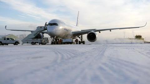 A350 XWB cold weather testing in Iqaluit, Canada