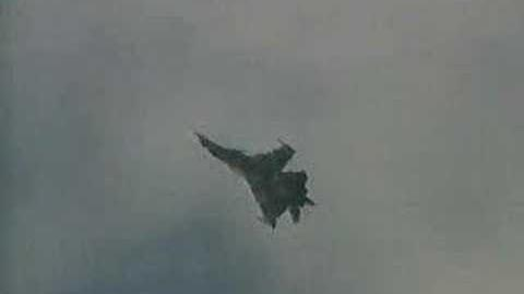 Su-37 performing a kulbit