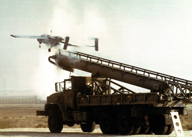 File:800px-RQ-2 Pioneer is catapulted from a launching rail 1.JPEG