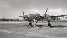 P-38 WW2 Aircraft photoed at France Field, Panama, 1945
