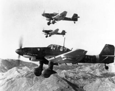 Junkers Ju 87Ds in flight Oct 1943