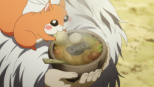 Ao eating Shin-Ah's food