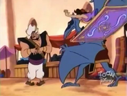 Aladdin and Carpet rescued Razoul from The Creature