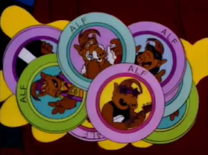 Simpson - Milhouse has ALF pogs