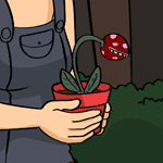 A young carnivorous flower, as seen in Comic 37.