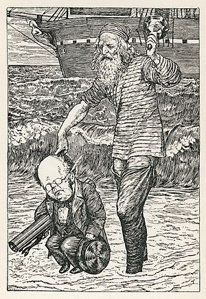 File:300px-Lewis Carroll - Henry Holiday - Hunting of the Snark - Plate 1.jpg