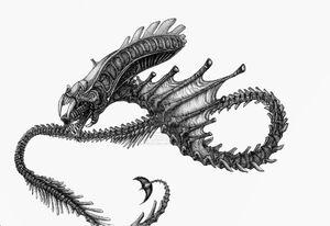 Snake Alien by SkyTides