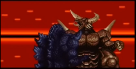 Super Godzilla clashes with Bagan
