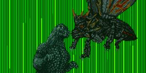 Godzilla battles Battra