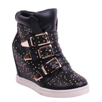 File:Gramercy Black Sneaker Wedge with studded design.jpg