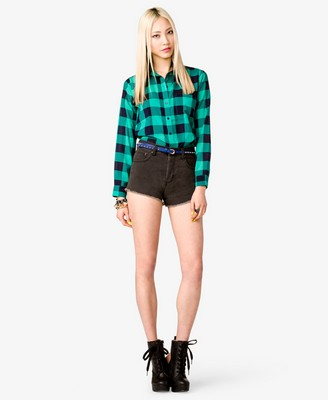 File:Semi-Sheer Plaid Shirt with shorts and boots.jpg