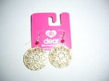 File:Dear by Amanda Bynes Earrings Gold Round Filagree w Bead on FH NEW.jpg