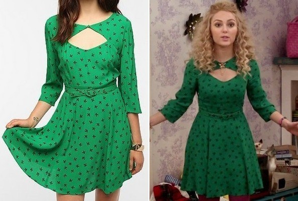 File:Sierra's green dress from sweet 16.jpg