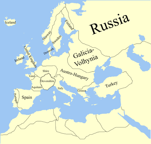 Europa with names