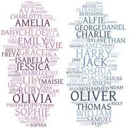 Girl and boy names collage