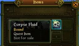 Corpse fluid