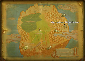 Mysterious benefactor map