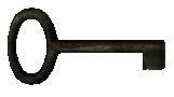 Small rusty key
