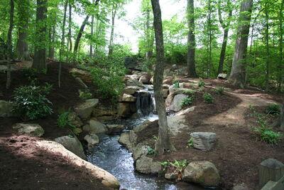 German Garden Waterfall