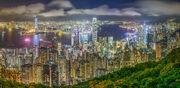 Hong Kong Skyline viewed from Victoria Peak 2