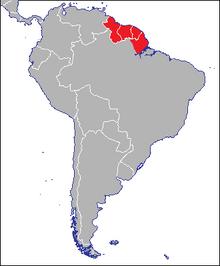 Locatie van Guyana