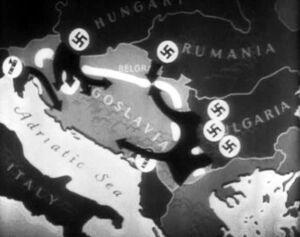 Balkans Campaign map