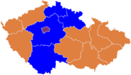 Czech parliament elections 2010 - regions winners map