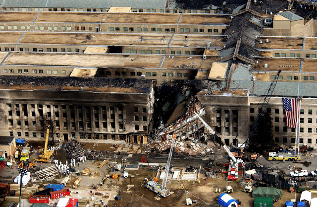 File:Aerial view of the Pentagon during rescue operations post-September 11 attack.JPEG