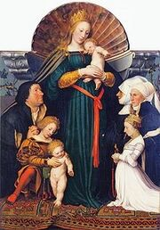 Darmstadt Madonna, by Hans Holbein the Younger