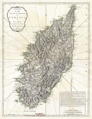 1794 Jeffreys Map of Corsica, France - Geographicus - Corsica-jeffreys-1794